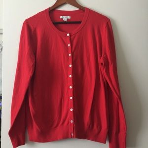 Old Navy button front red cotton blend cardigan